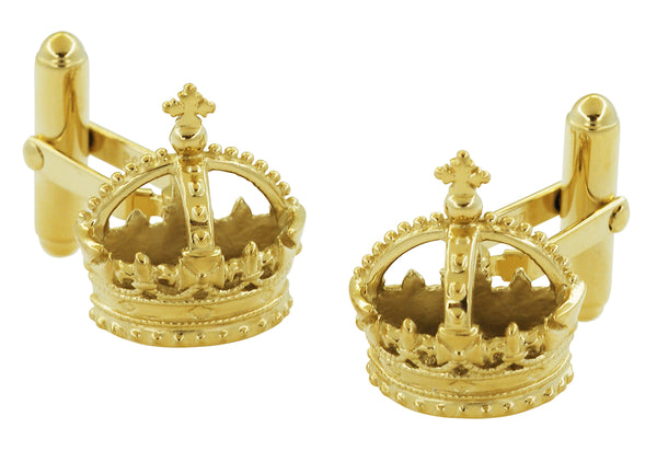 Yellow Gold Royal Crown Cufflinks