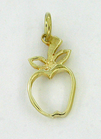 Charming Apple Charm in 14 Karat Gold