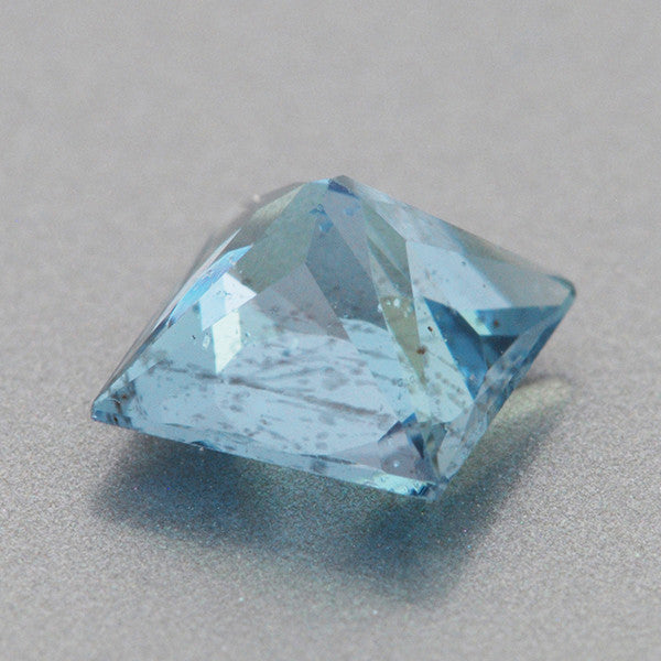 0.59 Carat Natural Princess Cut Deep Cerulean Blue Fine Aquamarine Gemstone | 5mm Square - Item: AQ001422 - Image: 1