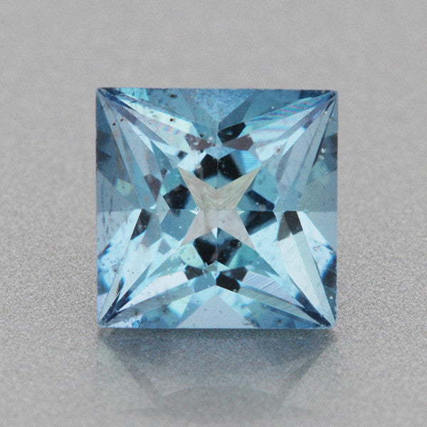 0 59 Carat Natural Princess Cut Deep Cerulean Blue Fine