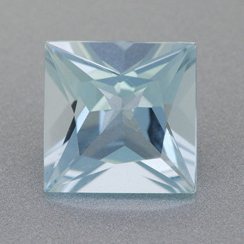 8mm Square Loose Sky Blue Aquamarine | 1.80 Carat Natural Princess Cut