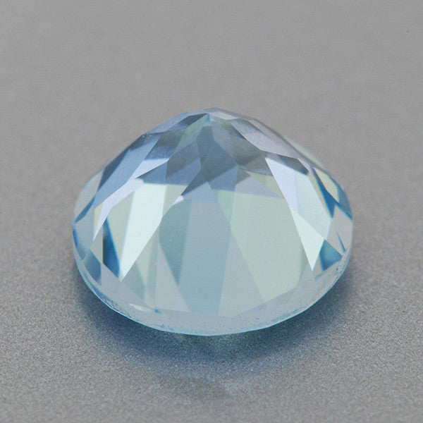1.27 Carat Natural Fine Loose Powder Blue Aquamarine | 7.2mm Round Gemstone - Item: AQ003251 - Image: 1