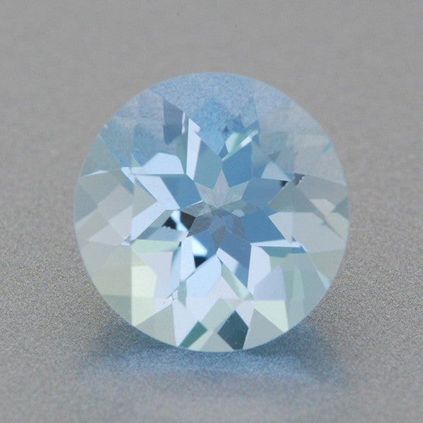 1.27 Carat Natural Fine Loose Powder Blue Aquamarine | 7.2mm Round Gemstone