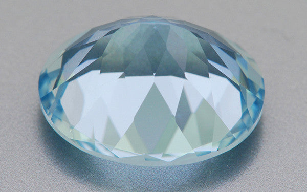 5.19 Carat Brilliant Natural Celeste Blue Oval Aquamarine | 12 x 10mm - Item: AQ002171 - Image: 1