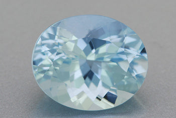 5.19 Carat Brilliant Natural Celeste Blue Oval Aquamarine | 12 x 10mm