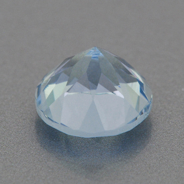 0.66 Carat Sky Blue Round Loose Aquamarine | 5.5mm Natural Stone - Item: AQ002498 - Image: 1