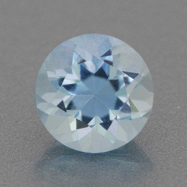 0.66 Carat Sky Blue Round Loose Aquamarine | 5.5mm Natural Stone