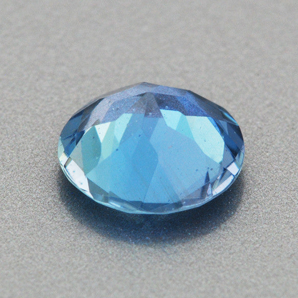 0.56 Carat Round Very Fine Deep Cerulean Blue Aquamarine | 5.9mm Natural Gemstone - Item: AQ003272 - Image: 1