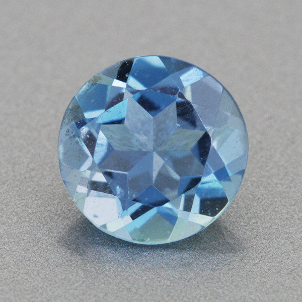 0.56 Carat Round Very Fine Deep Cerulean Blue Aquamarine | 5.9mm Natural Gemstone