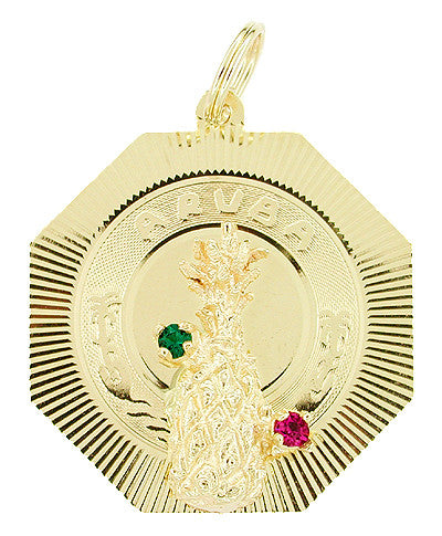18-Inch Hamilton Gold Plated Necklace with 4mm Jet Birthstone Beads and Gold Filled Chalice Charm.