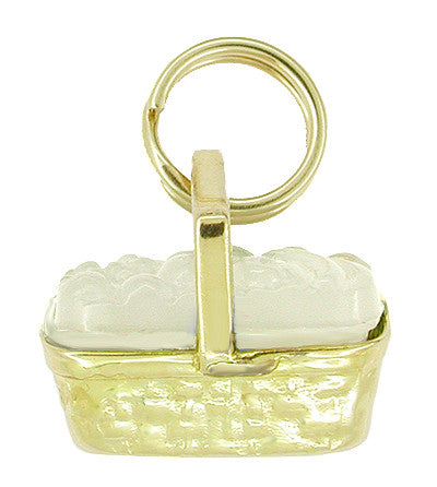 Picnic Basket Charm in 14 Karat Gold