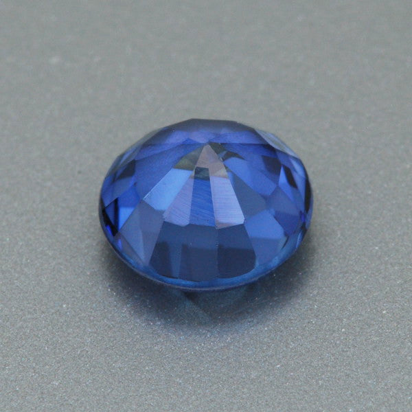 1.23 Carat Brilliant Royal Blue Lab Created Sapphire Loose Round 6.1mm | Premium AAAA Quality - Item: SBSYN003354 - Image: 1