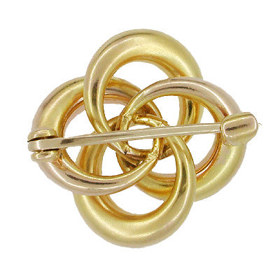 Antique Victorian Algerian Love Knot Brooch in 10 Karat Gold - Item: BR163 - Image: 1
