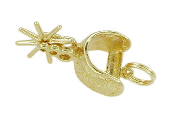 Movable Cowboy Spur Charm in 14 Karat Gold