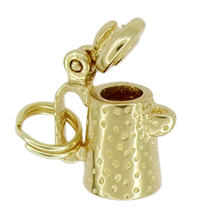 Movable Coffee Pot Charm in 14 Karat Gold