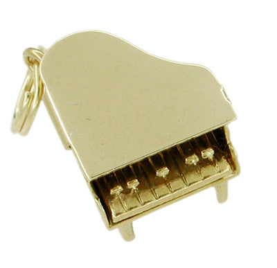 Movable Grand Piano Charm in 14 Karat Gold - Item: C279 - Image: 1