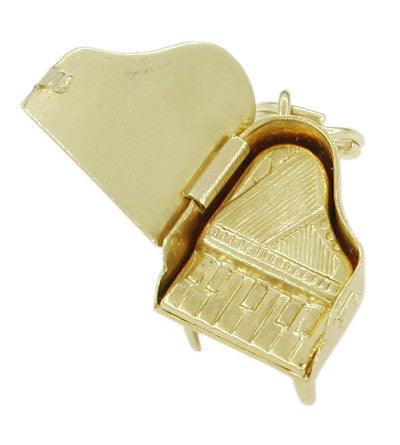 Movable Grand Piano Charm in 14 Karat Gold