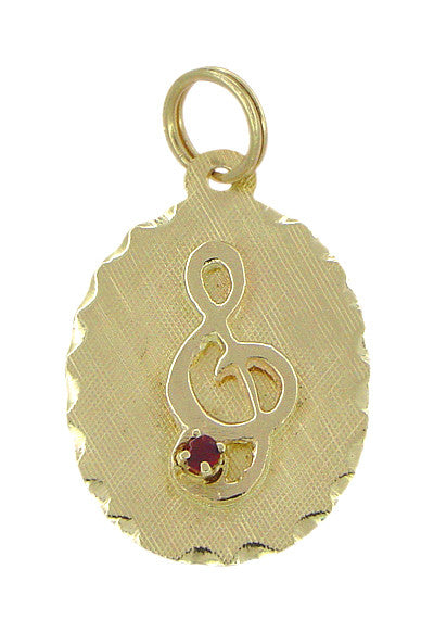 Treble Clef Charm in 14 Karat Gold