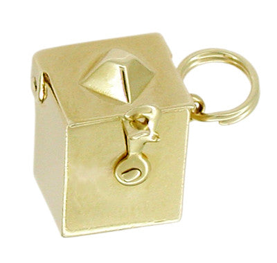 Movable Vintage Jack in the Box Charm in 14 Karat Gold - Item: C300 - Image: 1