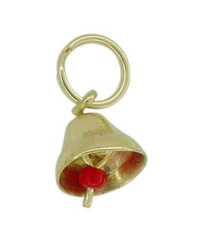 Small Movable Bell Charm in 14 Karat Gold