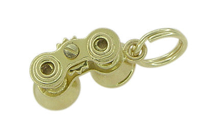 Moveable Binoculars Charm in 14 Karat Gold - Item: C331 - Image: 1