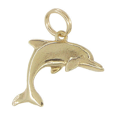 Leaping Dolphin Charm in 10 Karat Gold