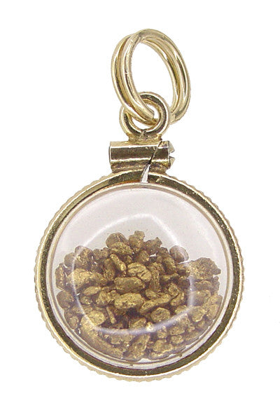 Lucky Gold Nuggets Charm