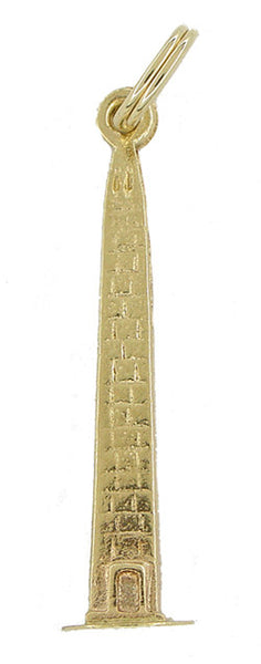 Washington Monument Charm in 14 Karat Gold
