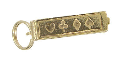 Opening Movable Deck of Cards Charm in 14 Karat Gold - Item: C367 - Image: 2