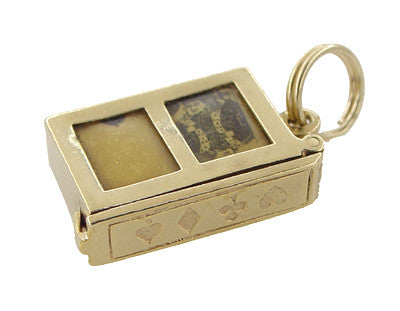 Opening Movable Deck of Cards Charm in 14 Karat Gold - Item: C367 - Image: 1
