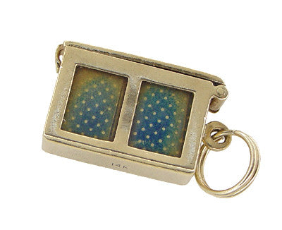 Opening Movable Deck of Cards Charm in 14 Karat Gold