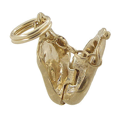 Movable Opening Purse Charm in 14 Karat Gold - Item: C368 - Image: 2