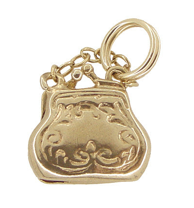 Movable Opening Purse Charm in 14 Karat Gold