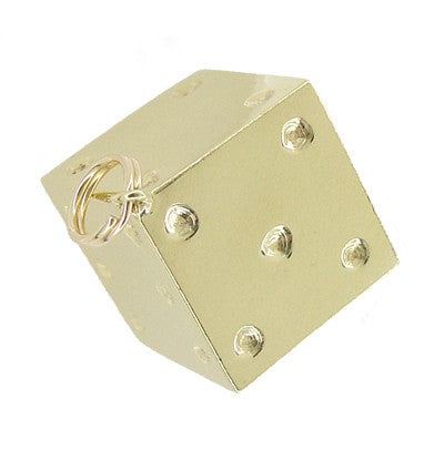 Vintage Lucky Dice Charm in 14 Karat Yellow Gold - Item: C383 - Image: 1
