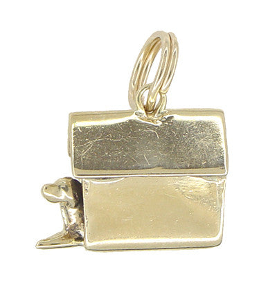 Dog in a Doghouse Charm in 10 Karat Gold - Item: C387 - Image: 1