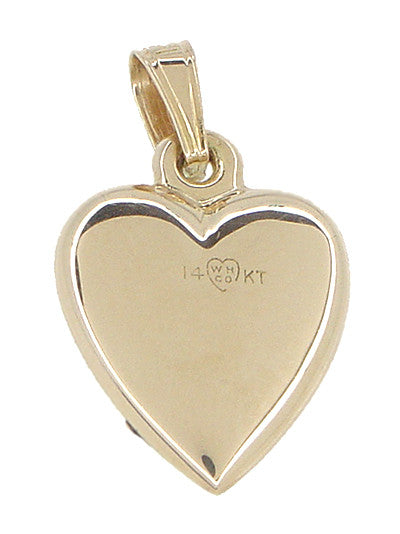 Puffed Heart Charm in 14 Karat Rose and Yellow Gold - Item: C402 - Image: 2