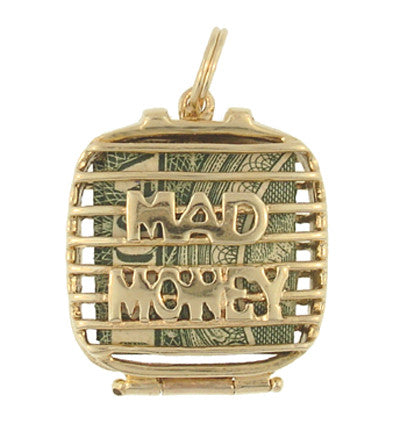 Mad Money Case Movable Charm in 14 Karat Yellow Gold