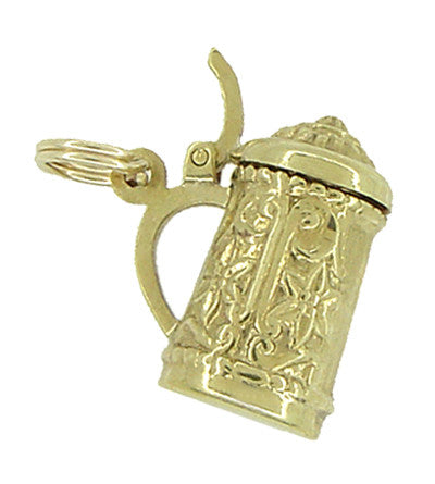 Vintage Movable Beer Stein Charm in 18 Karat Yellow Gold - Item: C409 - Image: 1
