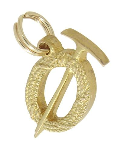 Prospectors Axe and Rope Charm in 14 Karat Gold