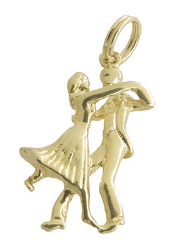 Ballroom Dancers Charm in 14 Karat Gold