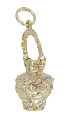 Movable Water Jug Charm in 14 Karat Gold
