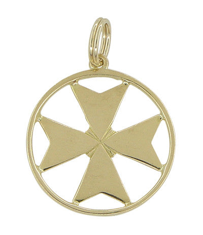Maltese Cross Pendant in 18 Karat Gold - Amalfi Cross