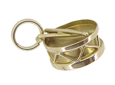 Snare Drum Charm in 14 Karat Gold - Item: C481 - Image: 1