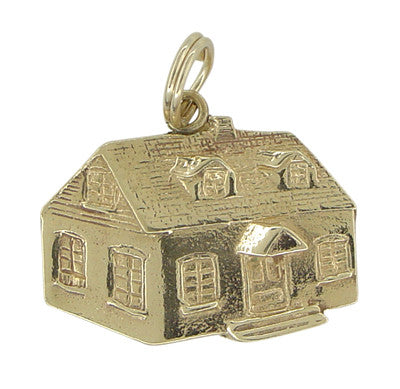 Traditional House Pendant - 14 Karat Yellow Gold