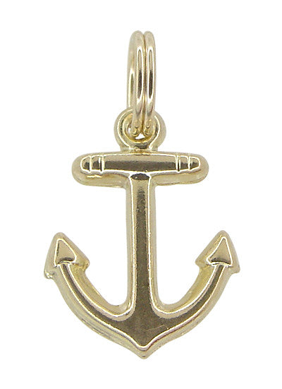 Small Anchor Charm 14 Karat Gold