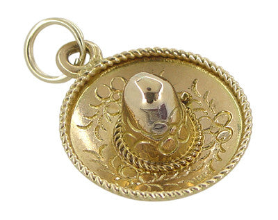 Mexican Hat Charm in 18 Karat Gold
