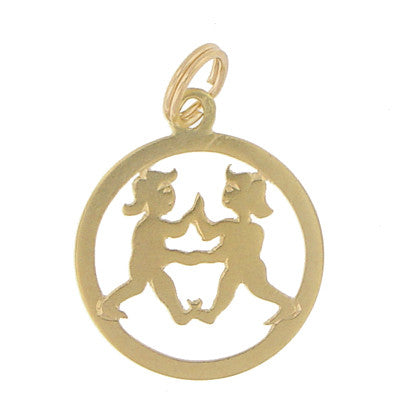 Patty Cake Charm in 14 Karat Yellow Gold