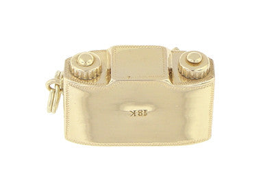Antique Camera Charm in 18 Karat Yellow Gold - Item: C545 - Image: 1
