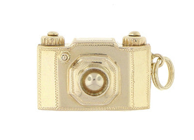 Antique Camera Charm in 18 Karat Yellow Gold
