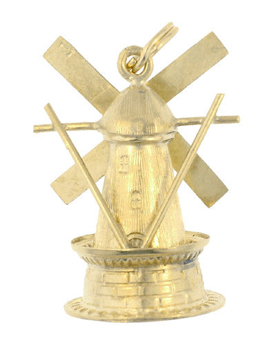 Movable Windmill Charm in 14 Karat Gold - Item: C550 - Image: 1